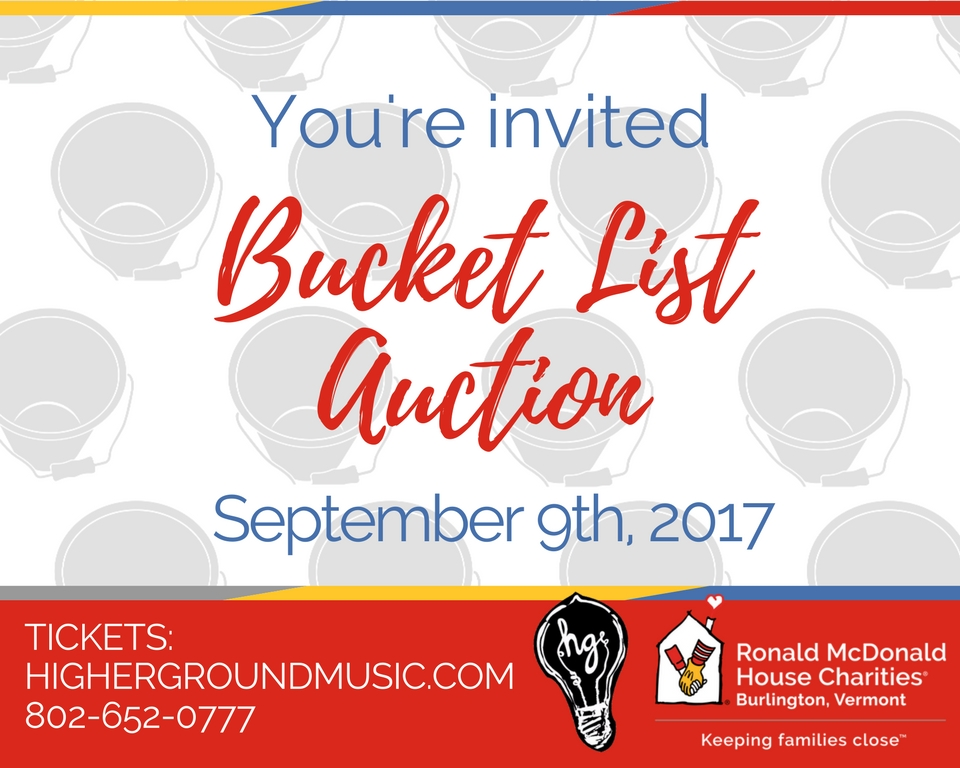 1st Annual Bucket List Auction at Higher Ground